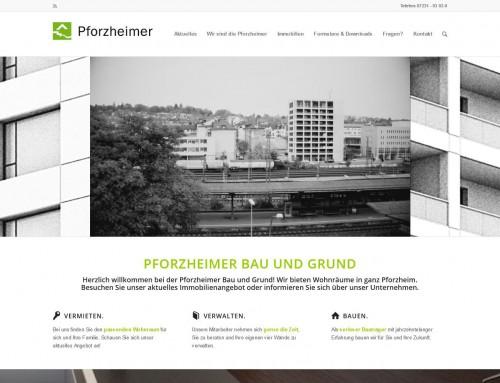 Website Pforzheimer Bau und Grund