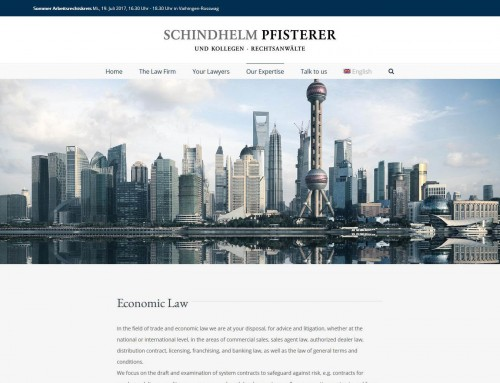 Website Schindhelm Pfisterer
